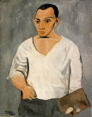 Picasso Self-portrait with Palette, 1906.