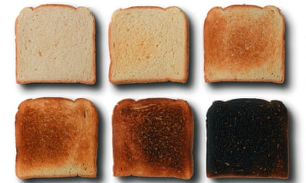 various shades of toast, from underdone to burnt