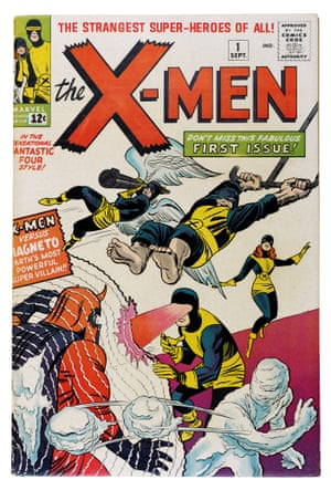 "The first issue of The X-Men (September 1963), with a cover by Jack Kirby and Sol Brodsky. The initial title for the series, The Mutants, was rejected by publisher Martin Goodman, so Stan went back to the drawing board saying: ""...an extra power, extra ability, some extra facet or quality denied a normal man. The word extra was the key. Mutants are, in a sense, people with something extra."" Thus The X-Men were born."
