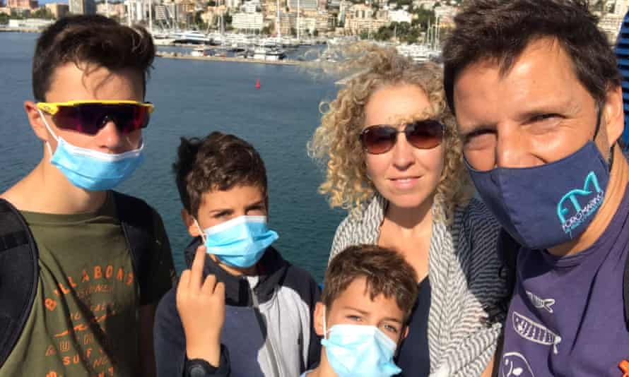Sarah Oppenheimer and family in Mallorca