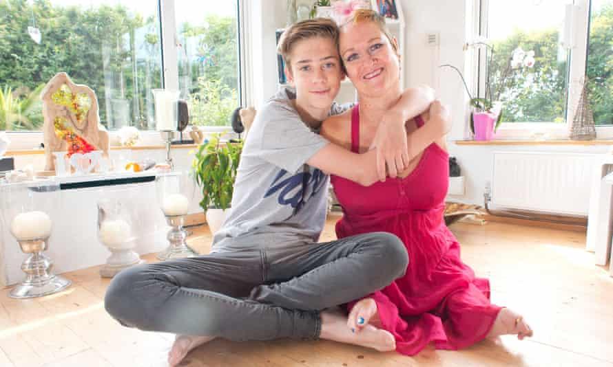 Alison Lapper with her son Paris