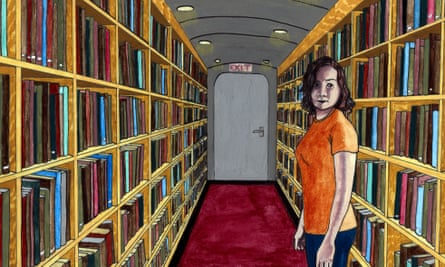 A detail from Audrey Niffenegger's The Night Bookmobile.