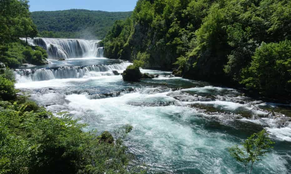 The Štrbački buk waterfall on the River Una marks the Bosnia- Croatia border.