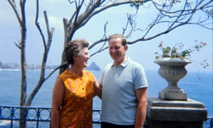 Chris Cleave's grandparents David and Mary Hill in Sicily in 1969.