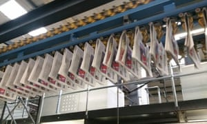 Guardian Weekly rolling off the presses, taken during a recent team visit to the print site