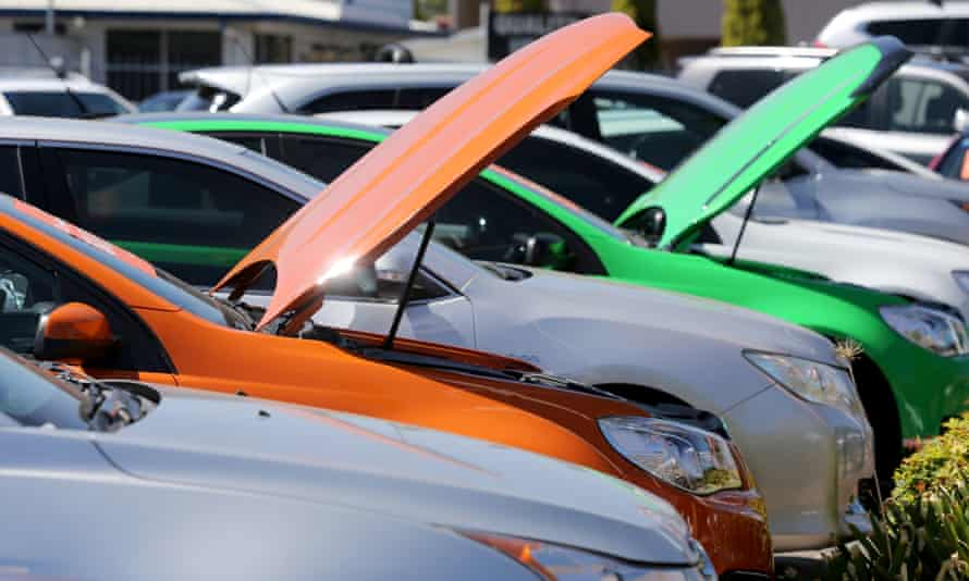 Holden vehicles sit at a dealership in Adelaide