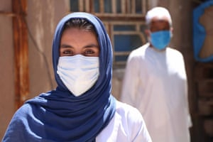 A medical worker in Herat.