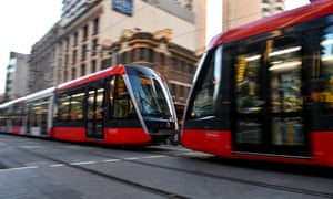 Sydney light rail tram
