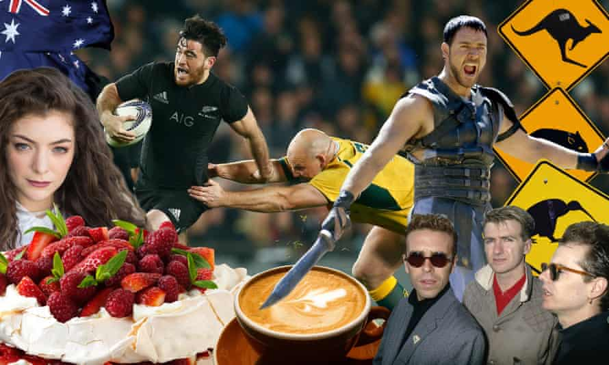 New Zealand v Australia - The Rugby Championship<br>Composite of Australian and New Zealand kitsch