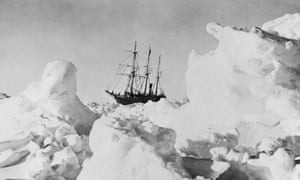 Sir Ernest Shackleton's ship, the Endurance, trapped in ice in 1916