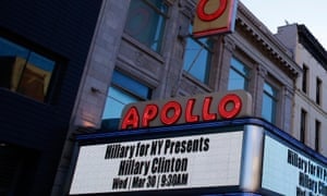 The Apollo marquee.