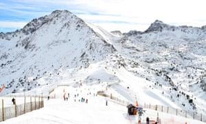 The Grandvalira ski resort in Andorra