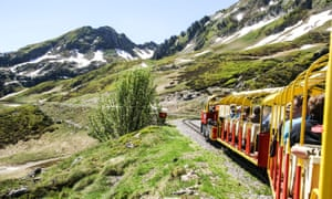 The Train d'Artouste, which runs through thePyrenees national park in France.