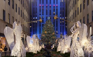 The lighting of the tree at the Rockefeller Center was a typically extravagant affair<br>