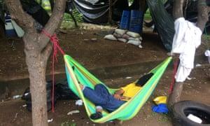 The Unan protest camp.