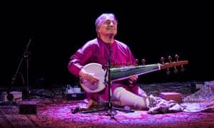 Deep resonant tone ... Amjad Ali Khan at the Royal Festival Hall, London.