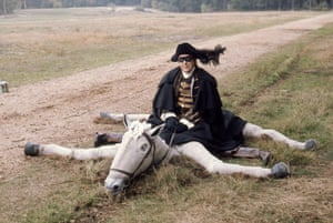 Eric Morecambe as Dick Turpin on a collapsed fake horse