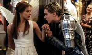 Claire Danes and Leonardo DiCaprio in Baz Luhrmann's Romeo + Juliet
