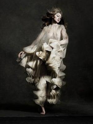 Gigi Hadid in Iris van Herpen dress,New York City, 2019
