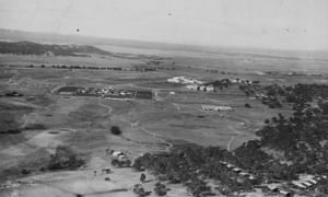 Australia's fledgling capital Canberra circa 1920, with official buildings already in place.