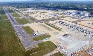 Gatwick airport officials said they were working towards resuming flights 'as soon as possible'.