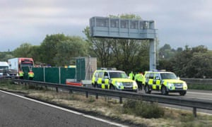 Driver arrested after five killed in M6 motorway crash near