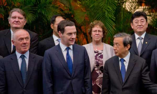 George Osborne and Chinese vice-president Ma Kai at a signing ceremony in Beijing.