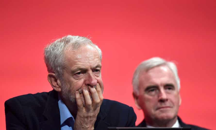 Jeremy Corbyn with John McDonnell at the Labour party conference, September 2015