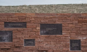 Inscriptions at the Columbine memorial in Littleton, Colorado.