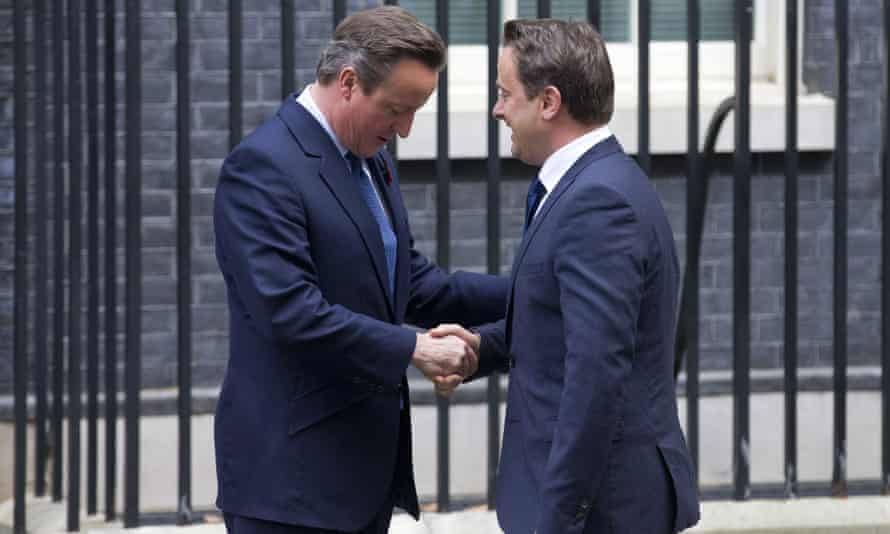 David Cameron with Xavier Bettel