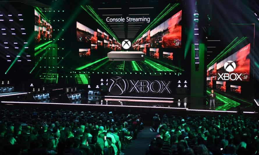 Phil Spencer, Microsoft Xbox head and executive vice-president of gaming, announces the new Xbox Project Scarlett console at E3 in Los Angeles