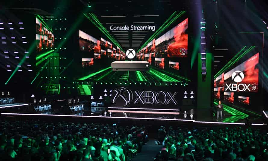 US-INTERNET-GAMES-COMPUTERS-MICROSOFT-XBOXMicrosoft Xbox head and executive vice-president of Gaming at Microsoft Phil Spencer announces the new Xbox Project Scarlett console at their press event ahead of the E3 gaming convention in Los Angeles on June 9, 2019. (Photo by Mark RALSTON / AFP)MARK RALSTON/AFP/Getty Images