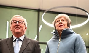 Jean-Claude Juncker with Theresa May