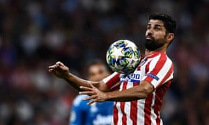 Atletico Madrid's Spanish forward Diego Costa controls the ball during the UEFA Champions League Group D football match between Atletico Madrid and Juventus, at The Wanda Metropolitano Stadium in Madrid, on September 18, 2019.