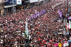 Thousands gather in the streets