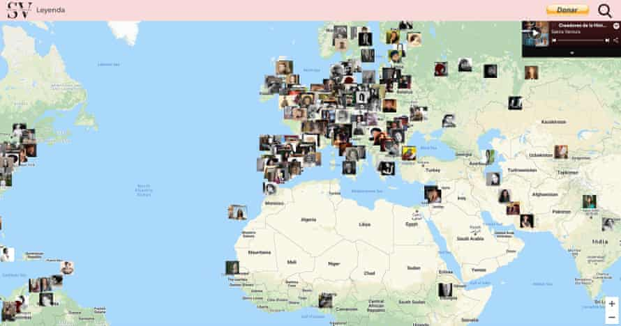 The interactive map features more than 500 female composers from across the globe