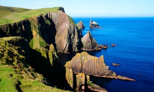 inlets in the cliffs of Fair Isle