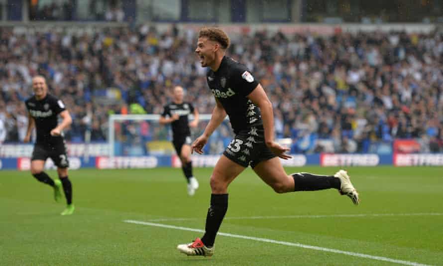 Kalvin Phillips in the all-black Leeds away kit back in 2017.