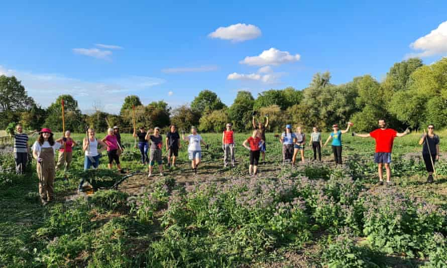 Volunteer co-farmers in Cambridge have helped sow seeds and tackle thistles on the community farm.