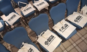 Best for Britain bags at a London event, 30 October