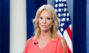 Out to impugn the motives of Christine Blasey Ford ... Kellyanne Conway. Photograph: Michael Brochstein/Sopa Images/LightRocket via Getty Images)
