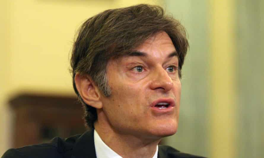 Dr Oz was criticised at a Senate subcommitte hearing last summer for advertising so-called 'miracle' cures.