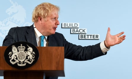 Boris Johnson at the press briefing at which he 'misspoke'.