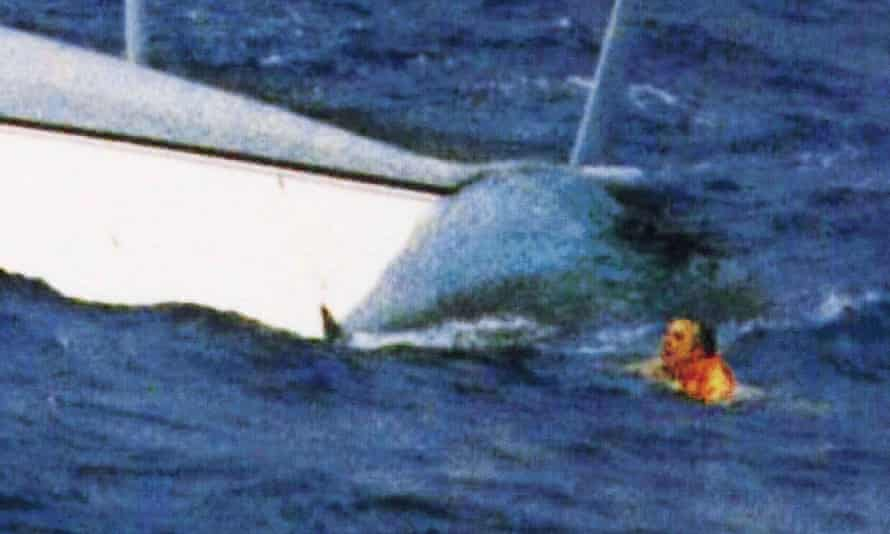 Bullimore found enough strength to dive under the water, get out of the hull and rise to the surface to wave to his rescuers.