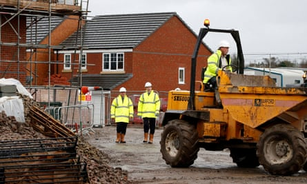 Then-chancellor George Osborne at a Persimmon Homes development in Cheshire, 2016