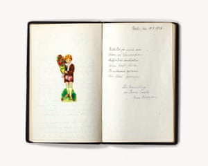 'Poesiealbum', a collection of poems and well-wishes written in the journal of a German girl in the 1920s, bought by Atkins in Berlin.