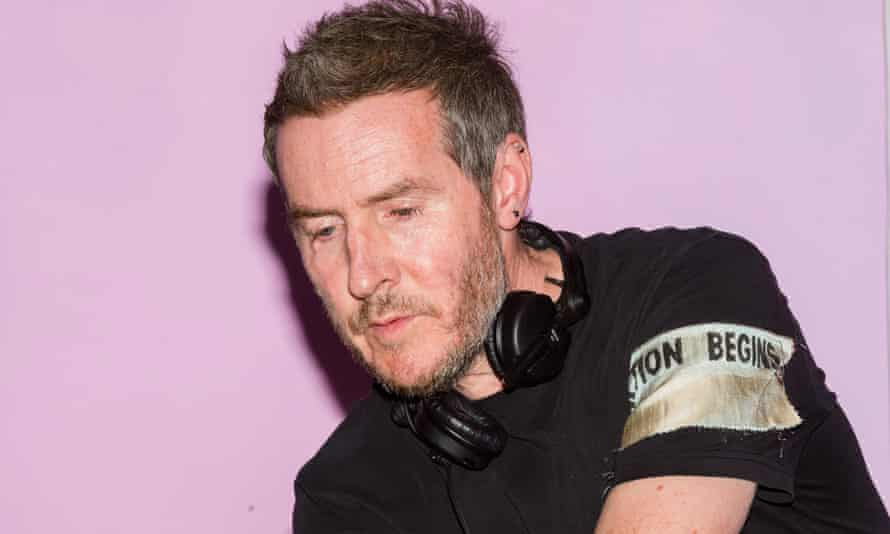 Massive Attack's Robert del Naja plays a DJ set to crowds gathered at an Extinction Rebellion rally at Marble Arch in April 2019