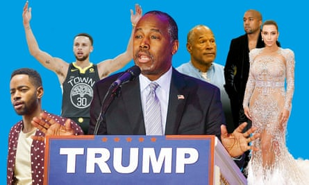 From left: Insecure; Stephen Curry; Ben Carson; OJ Simpson; Kanye West and Kim Kardashian.