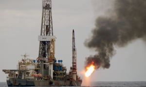 A drilling ship working for Brazilian state-owned oil company Petrobras off the state of Espirito Santo