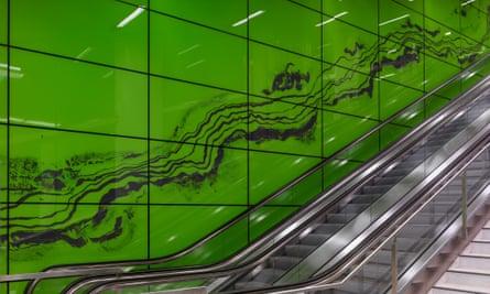 Manuel Franke's artwork in Graf-Adolf-Platz station.